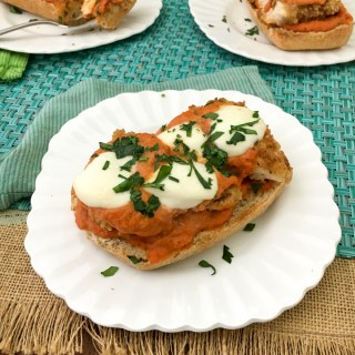 Upgrade your Chicken Parmesan Sandwich in flavor and nutrition with this special ingredient! recipe at TeaspoonofSpice.com