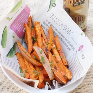 #AD Extra crispy baked fries: Apple Cider Marinated Sweet Potato Fries via @TspCurry