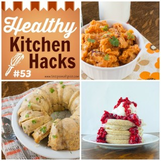 The Creamiest Mashed Potatoes * Easy Way to Lower Sugar in Canned Cranberry Sauce * Never-Dry Stuffing | @TspCurry - For more Healthy Kitchen Holiday Hacks: TeaspoonOfSpice.com