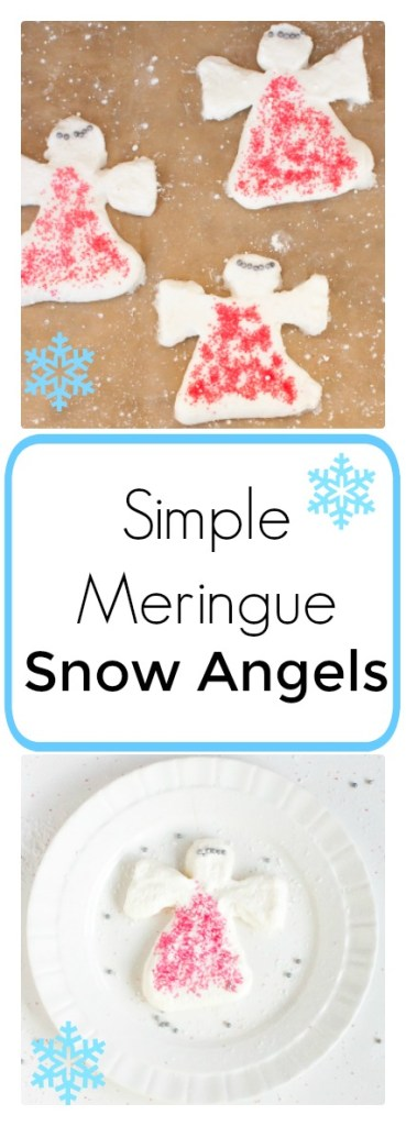 Easy-to-form fun: SIMPLE MERINGUE SNOW ANGELS | @TspCurry For more holiday recipes: TeaspoonOfSpice.com