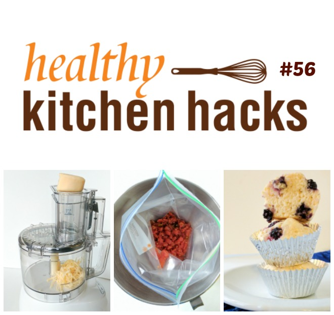 Healthy Kitchen Hacks: QUICK TRICK TO CLEAN CHEESE FROM YOUR FOOD PROCESSOR * HOW TO MAKE BEAUTIFUL BERRY MUFFINS * AN EASY WAY TO FILL FREEZER BAGS WITH SOUP | @TspCurry - For more #HealthyKitchenHacks - TeaspoonOfSpice.com