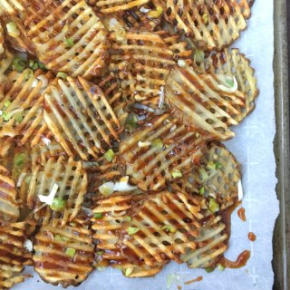 Japanese flavors meet thick cut baked potato fries with this lower sodium teriyaki sauce. Recipe at Teaspoonofspice.com