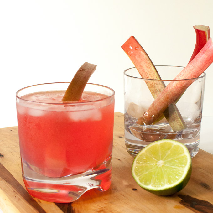 Ruby Rhubarb Cocktail | @TspCurry