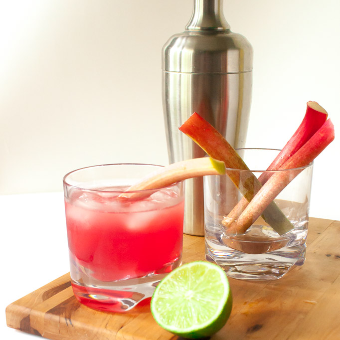 Ruby Rhubarb Ginger Cocktail   @TspCurry
