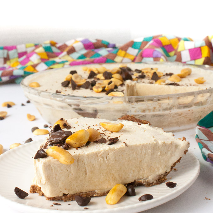 Frozen Peanut Butter Pie | @TspCurry