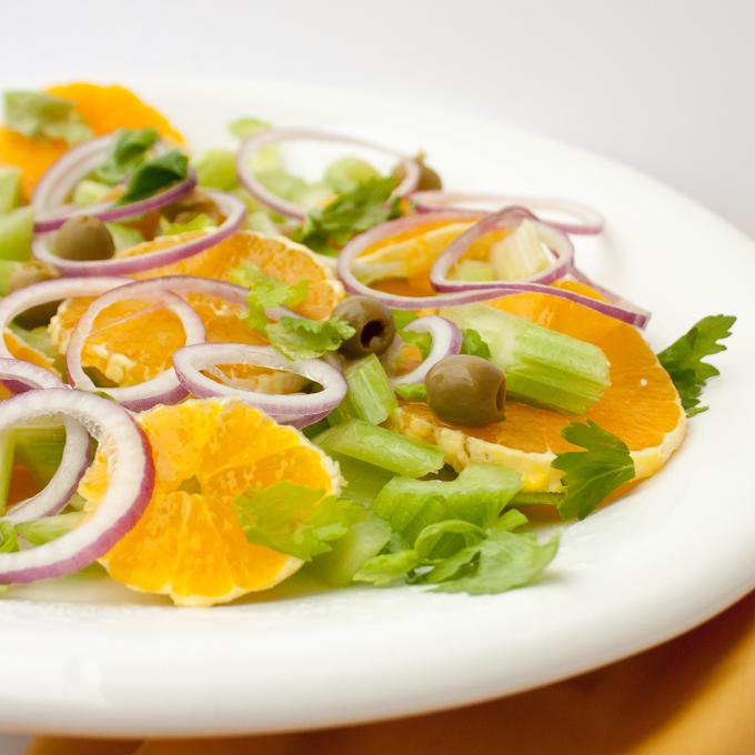 Easy Italian Celery Orange Salad | @TspCurry