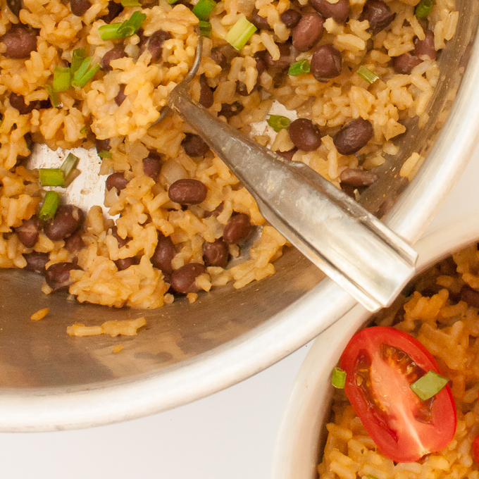Quick and Easy Mexican Rice and Beans | @TspCurry
