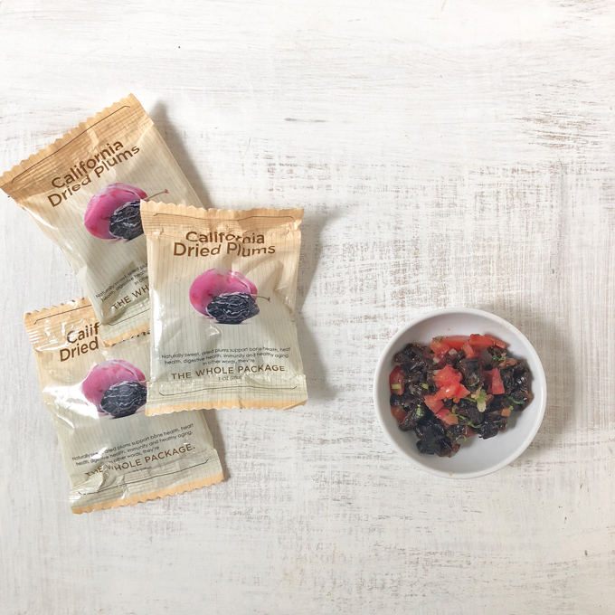 Discover the cooking versatility of California prunes with this tomato cilantro prune salsa from Chef'd.