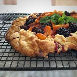 Apricot Blackberry Rustic Tart