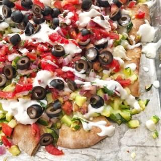 Zucchini Greek Pita Nachos