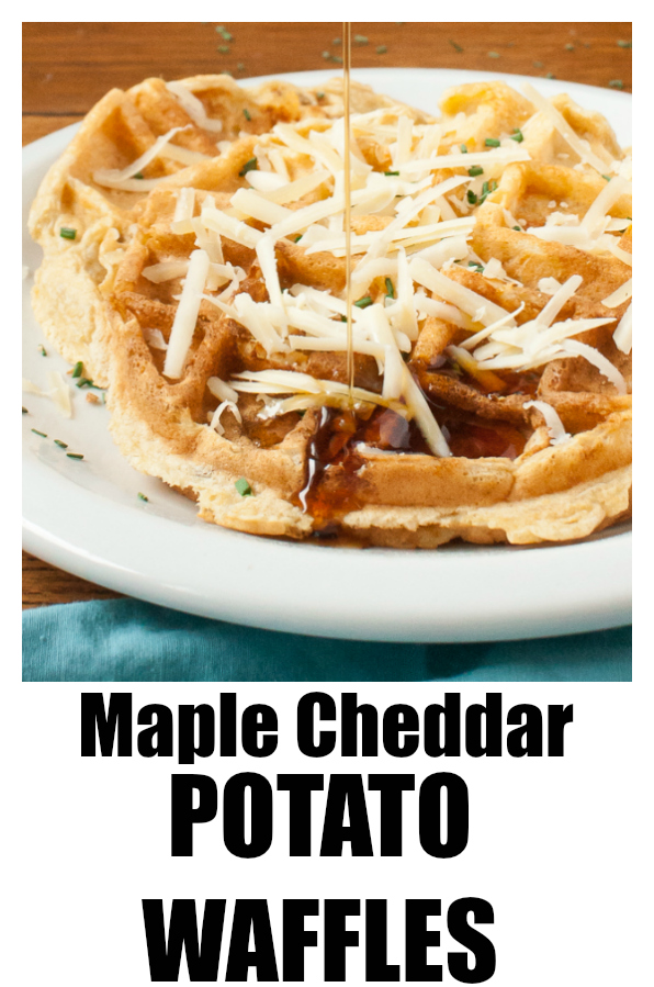 #ad MAPLE CHEDDAR POTATO WAFFLES - Easy waffles to make for the perfect workout refuel via https://www.pinterest.com/tspcurry/