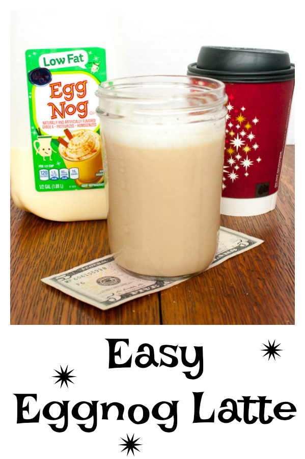 Skip the drive-thru. No expensive espresso machine needed: EASIEST EGGNOG LATTE - More #HealthyKitchenHacks - https://www.pinterest.com/tspcurry/