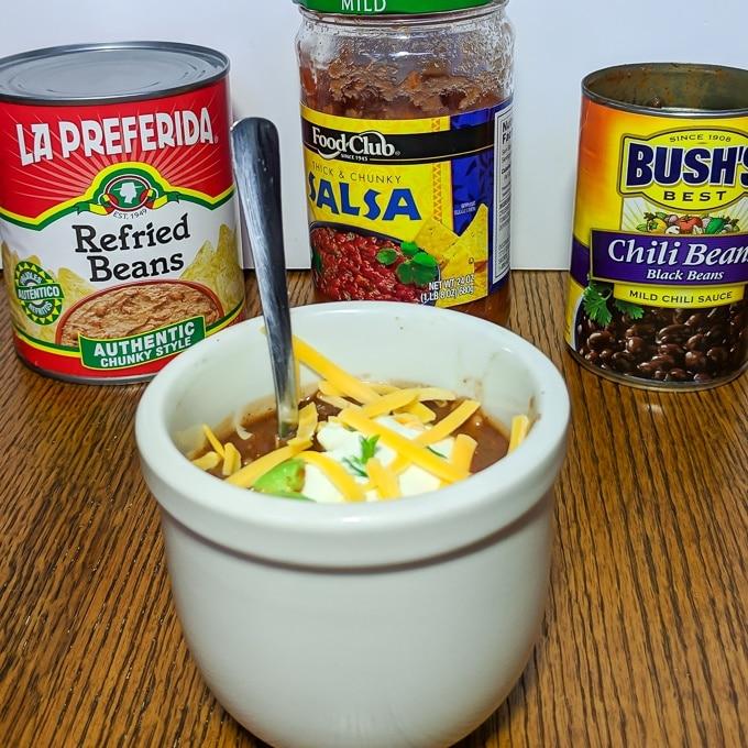 Microwave Mug Chili   @tspcurry