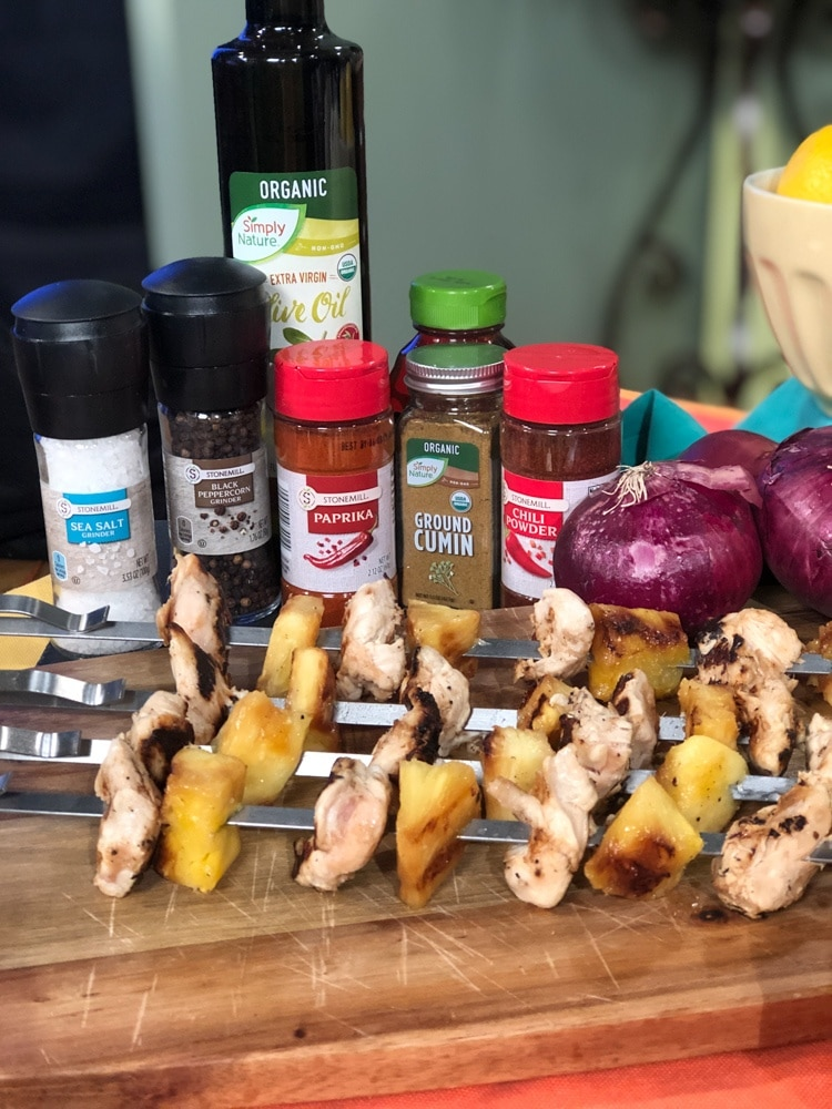 Grilled Chicken and Pineapple Skewers plus More Cookout Friendly Recipes from ALDI