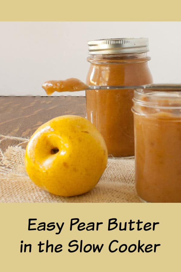 Easy Pear Butter Slow Cooker