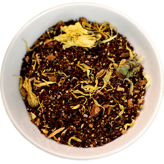 View from above an herbal mix