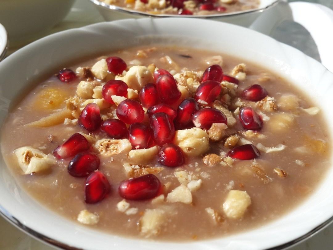 Asure, opskrift på asure, tyrkiske traditioner,