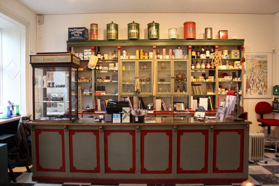 silkeborg museum, gammeldags købmandsbutik, hovedgården,