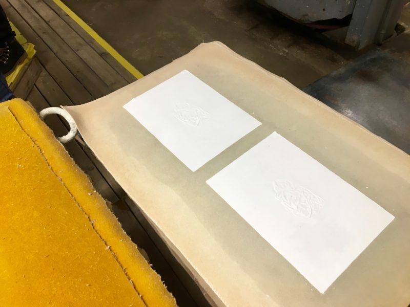 pressning af papir, produktion af papir