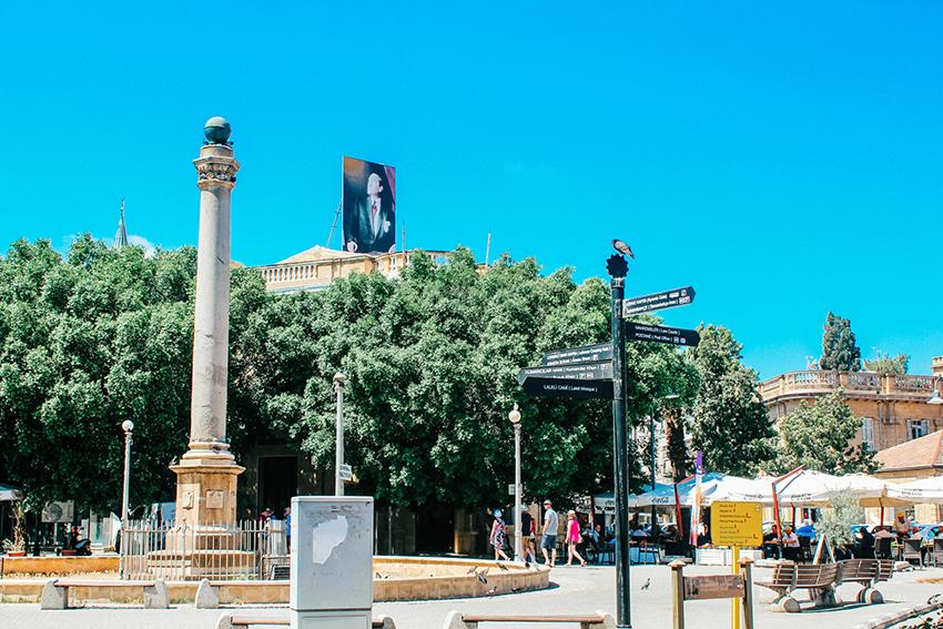ataturk square, square ataturk, oplevelser i Lefkosa, seværdigheder i Lefkosa, Nordcypern guide, guide til Nordcypern
