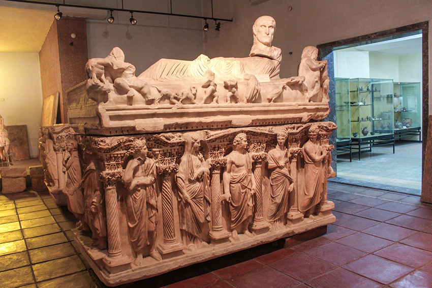Konya arkæologiske museum, arkæologiske museum Tyrkiet, sakofag, tyrkiske sakofag, tyrkisk kirste