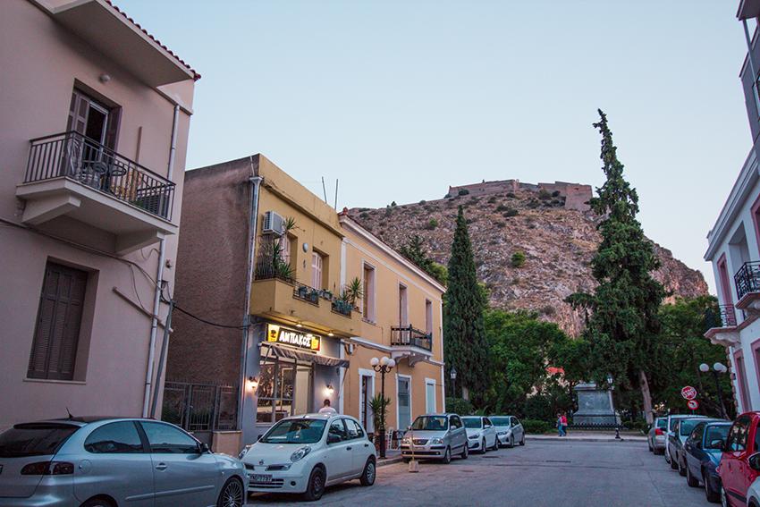Nafplio, Nafplio landsby, Nafplion slot, Slotte i Grækenland, græske slotte, Græske landsbyer