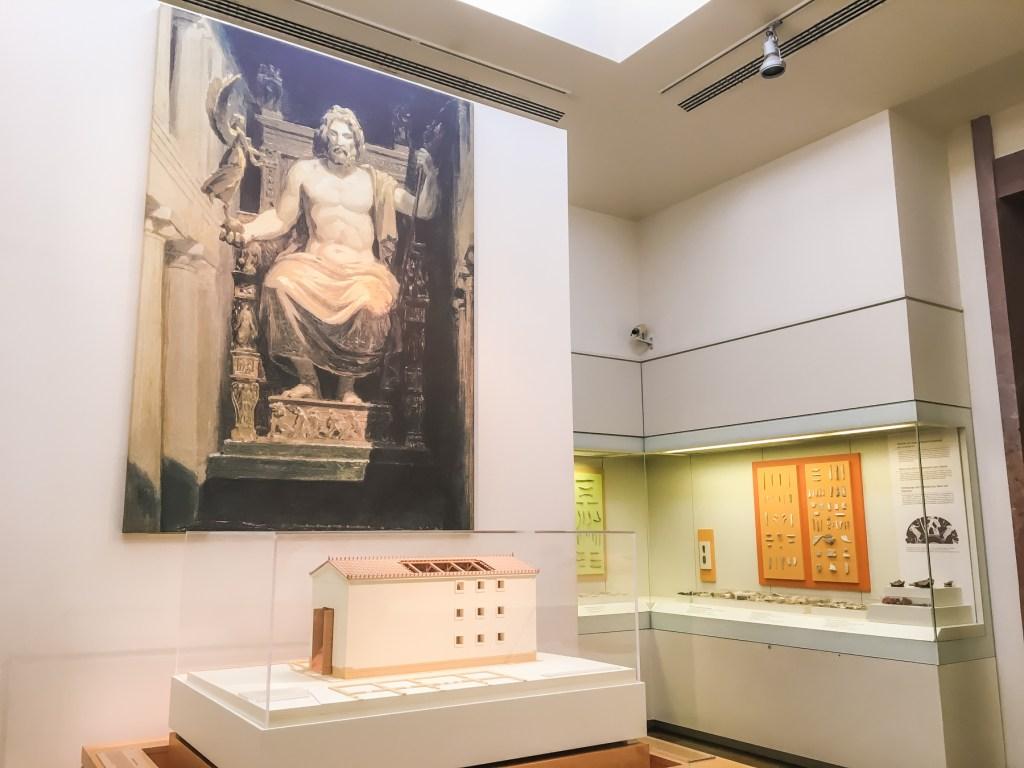 Zeus status, Zeus olympia, Zeus tempel, Olympia, Olympia Grækenland, Grækenland rejser,