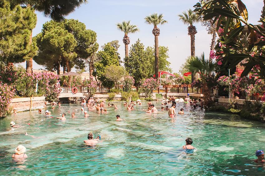 Cleopatra pool, Cleopatra svømmingpool, Pool Pamukkale, Cleopatras pool Pamukkale, Guide til Pamukkale,