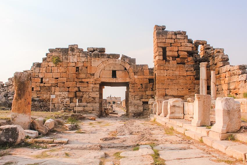 Hierapolis, Hierapolis ruiner, ruinerne i Hierapolis, Pamukkale ruiner, Pamukkale Hierapolis