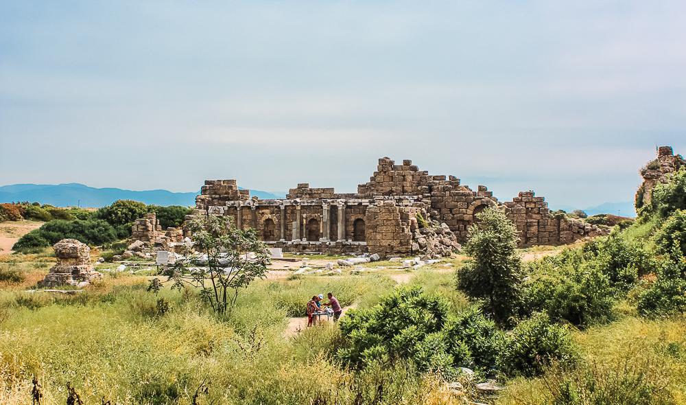 Side ruiner, ruin by, ferie byer i Tyrkiet, populære ruiner, antikke ruiner i Tyrkiet