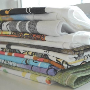 layered Tea towels