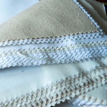 tea towel fabric swatches