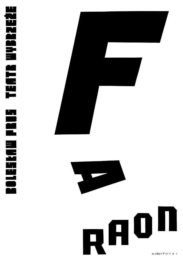 plakat do FARAONA autor Mieczysław Wasilewski