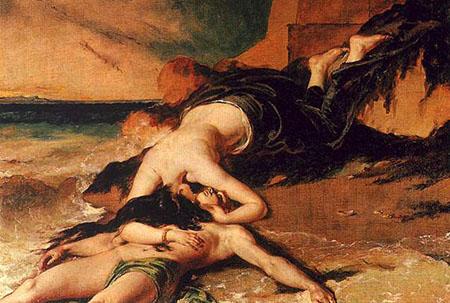 Ero e Leandro - Etty_William_1828