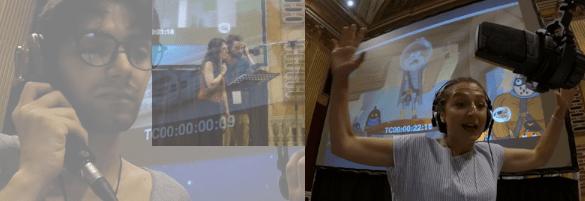 Momenti delle Live di doppiaggio a Palazzo Ducale