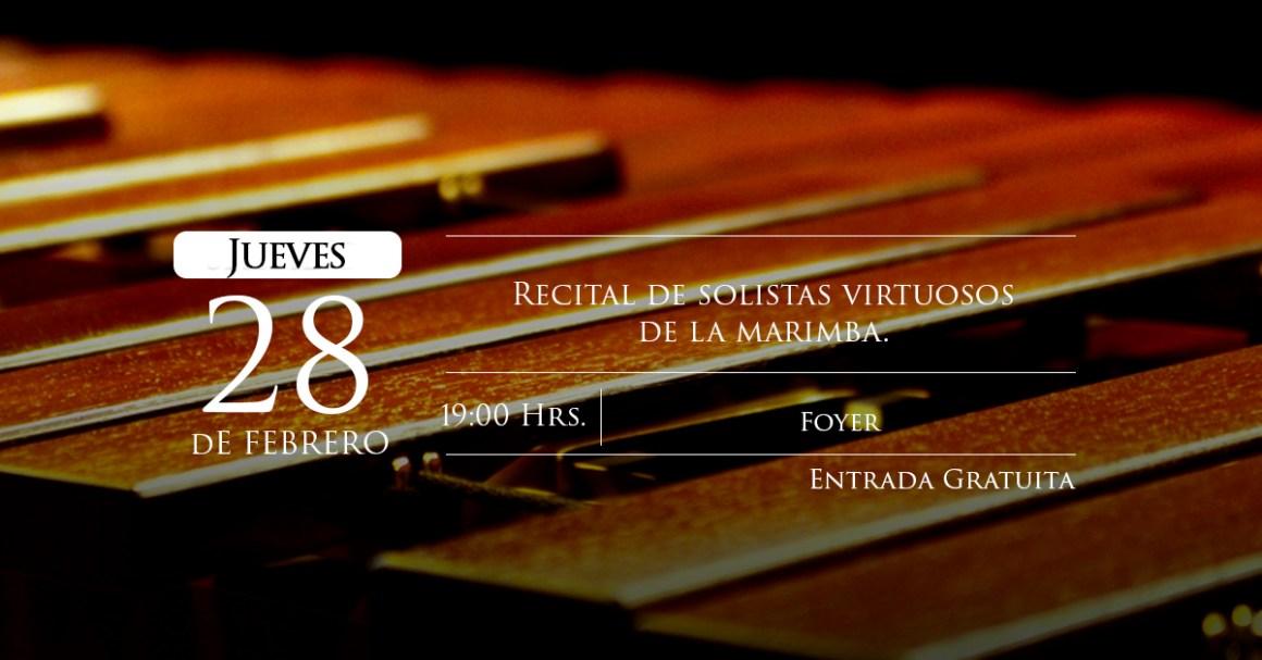 Recital de solistas virtuosos de la marimba