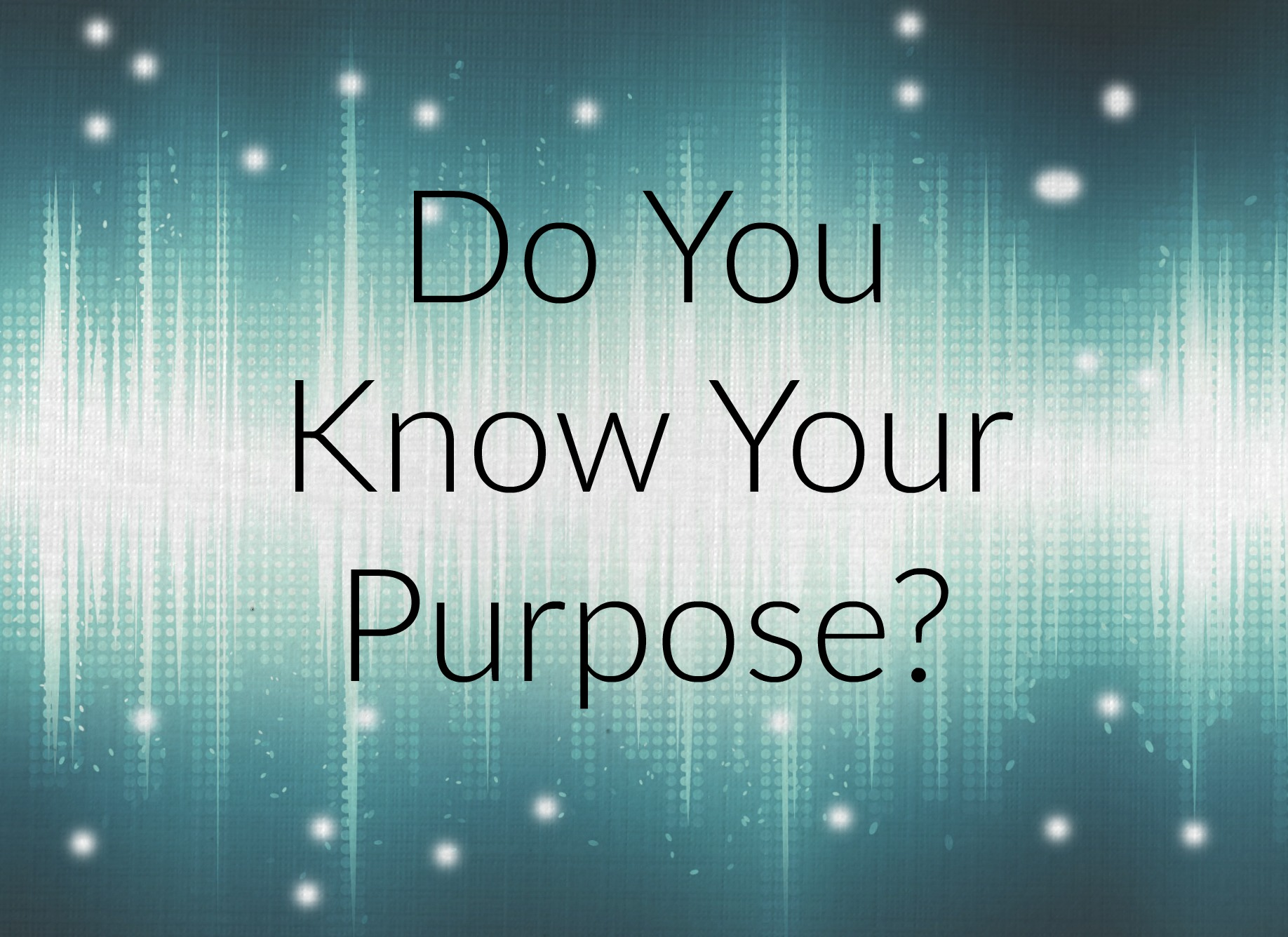 finding your purpose book