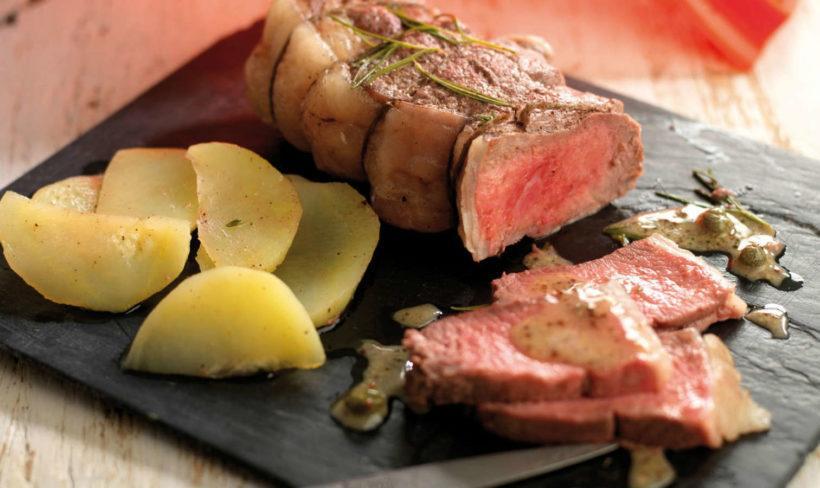 guarnicion con papas para carne asada