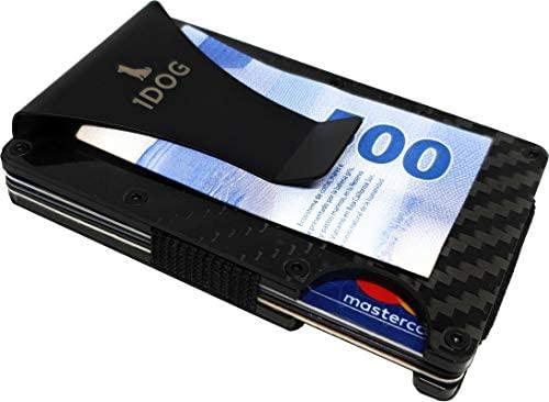 1dog Money Clip Cartera Tarjetero Porta Tarjetas Bloqueo RFID 1