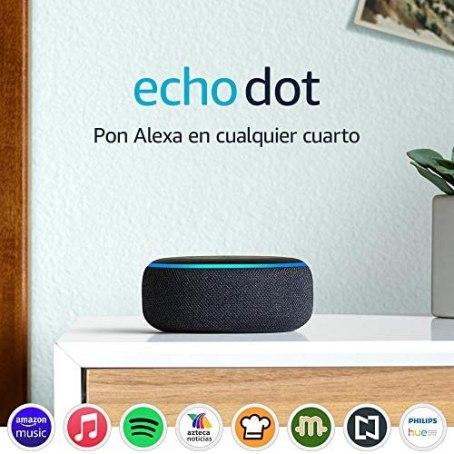 Echo Dot (3ra generación) - Bocina inteligente con Alexa, negro 1
