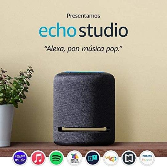 Echo Studio - Bocina inteligente de alta fidelidad con Alexa 1