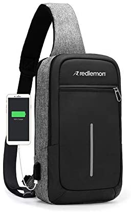 Redlemon Mochila Cruzada Impermeable Mini con Puerto USB 1