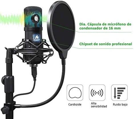 Kit de micrófono USB Condensador 2