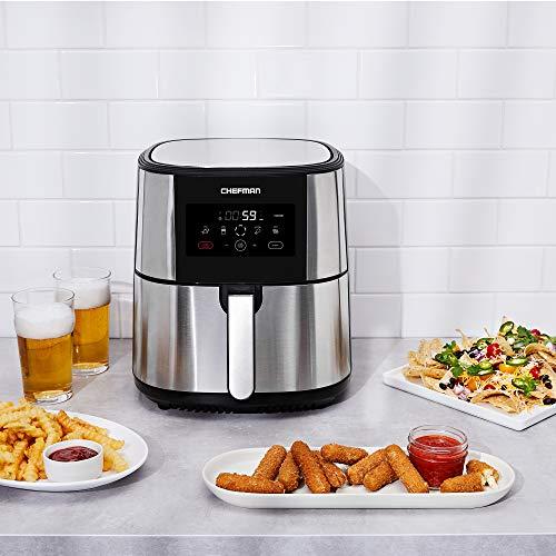 Chefman Freidora de Aire Digital de 7.5 Litros | Freidora de aire | Fríe sin Aceite | TurboFry | Sin BPA 5