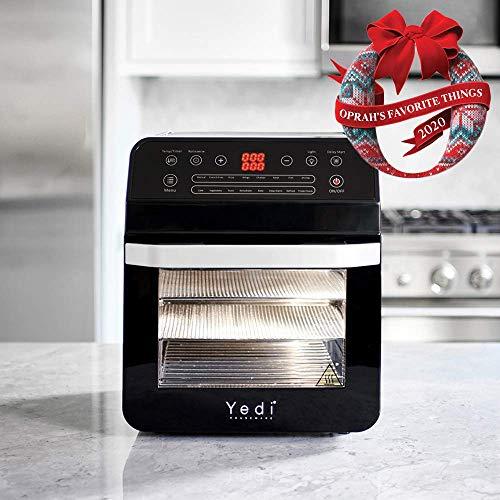 Yedi - Freidora de aire XL, horno, paquete total, 12 Litros, kit de accesorios de lujo, recetas, sin BPA, apagado automático, negro 3