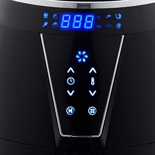 AVERA Freidora de Aire Eléctrica 4.5 Litros 1500 W 8 Preajustes de Cocción Temporizador Temperatura Ajustable Antiadherente Pantalla Táctil Menos Aceite Apagado Automático 4