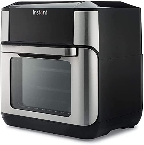 Instant Vortex Freidora de aire con programas de cocción de un solo toque, para fritura de aire, asar, hornear, recalentar, 7 en 1, Con asador, asado, broil, hornear, recalentar y deshidratar., 10 Qt, 1 2