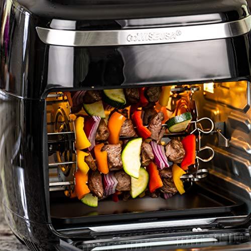 GoWISE USA GW77722 Horno freidora de aire de 11,6 cuartos con asador y deshidratador + 50 recetas, Vibe, negro 8