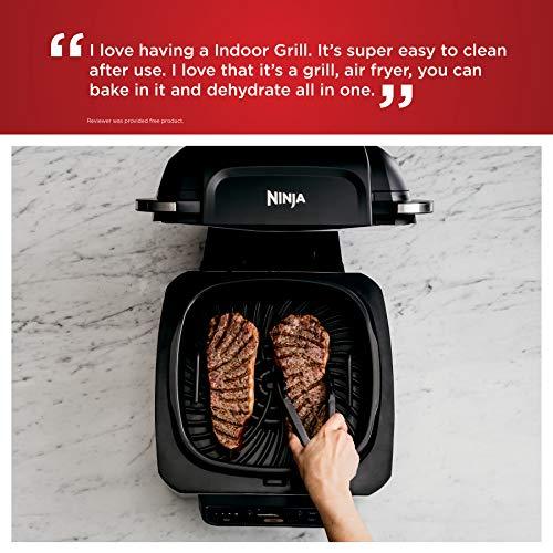 Ninja Foodi AG301 Parrilla eléctrica para interiores 5 en 1 con freidora de aire de 4 cuartos de galón, asado, horneado, deshidratado y tecnología de parrilla ciclónica 6