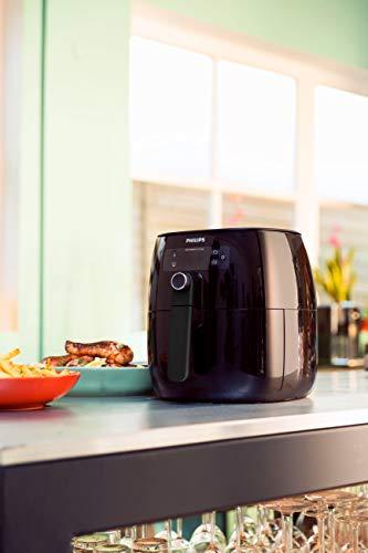 Philips Airfryer digital premium con tecnología para quemar grasa con libro de cocina Bonus 150+, 3 cuartos de galón, negro HD9741 / 99 11